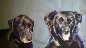 Bella and Polly, another Christmas commission. I enjoyed tackling the shine on their coats