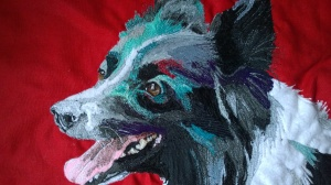 I was commissioned earlier in the year to stitch a quartet of water-loving border collies and here is the first. Tongues and teeth can be a bit tricky to stitch, but was pleased with Erintitch